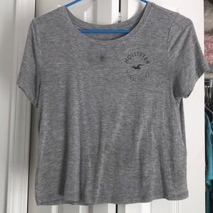 hollister short sleeve logo tee